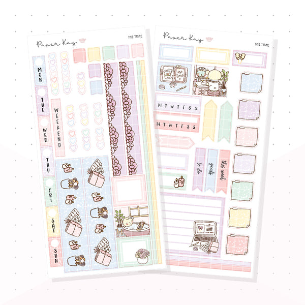 Me Time Hobonichi Weeks Kit - Planner Stickers