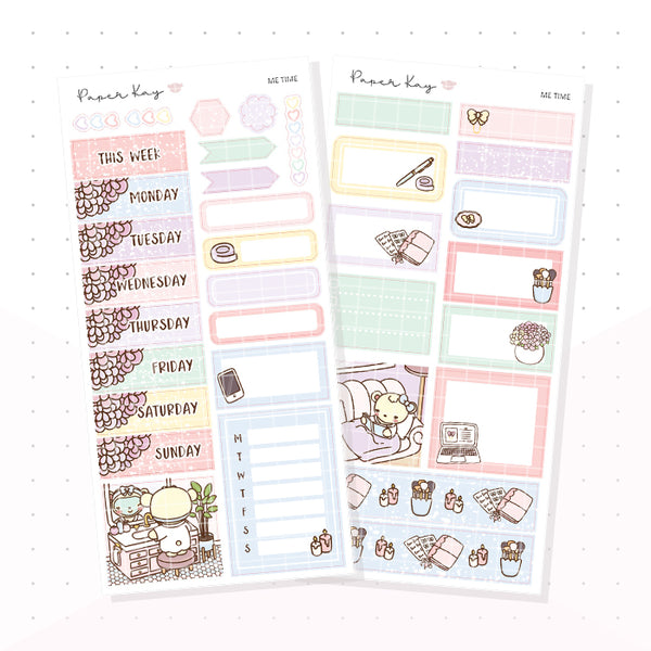 Me Time PP Weeks Kit - Planner Stickers