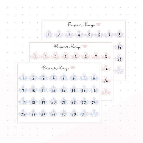 Mother's Day Date Dots - Planner Stickers