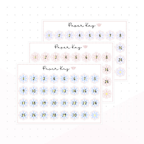 Mother's Day Daisy Date Dots - Planner Stickers