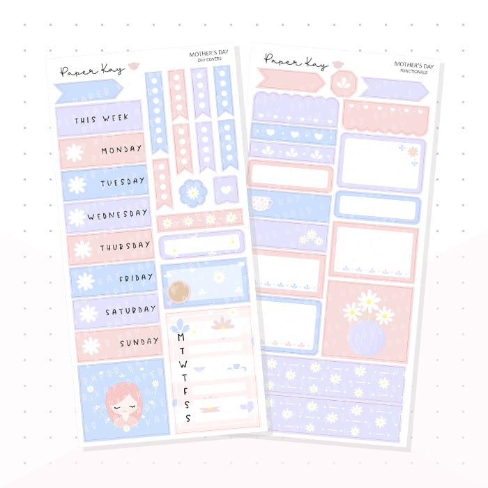 Mother's Day PP Weeks Kit - Planner Stickers