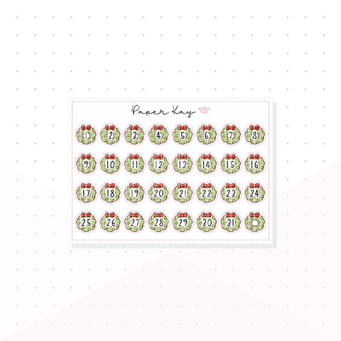 Traditional Nutcracker Date Dots - Planner Stickers