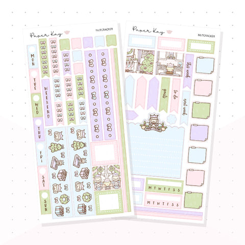 Pastel Nutcracker Hobonichi Weeks Kit - Planner Stickers