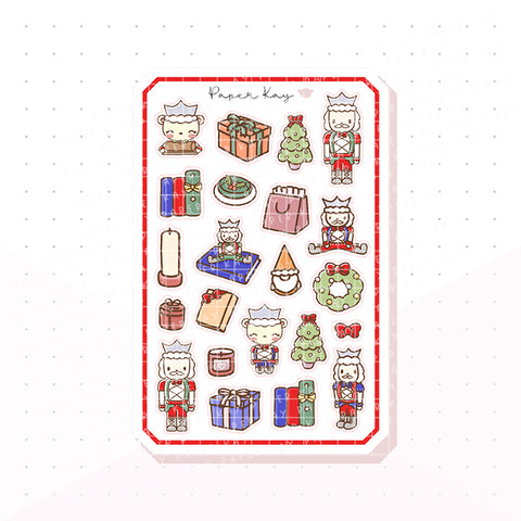 Traditional Nutcracker Bujo Deco Planner Stickers 1