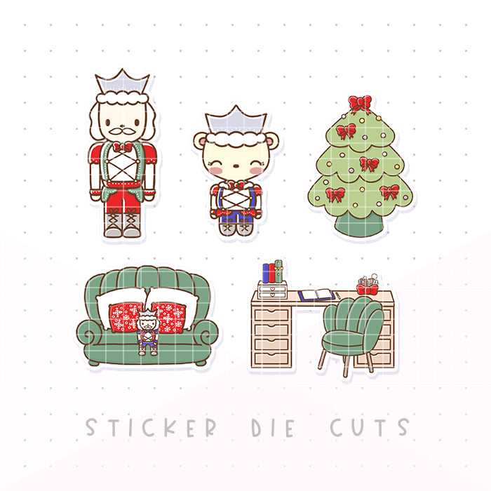Traditional Nutcracker Dot the Bear Die Cuts