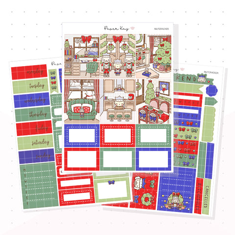 Traditional Nutcracker Weekly Vertical Kit - Planner Stickers