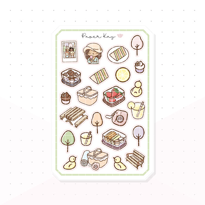 Picnic in the Park Bujo Deco Planner Stickers