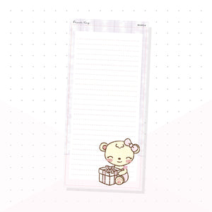 (PKNP014) Sweet Birthday Gift - Lined - Hobonichi Weeks Note Page - Planner Sticker