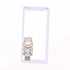 (PKNP018) Pastel Nutcracker - Lined - Hobonichi Weeks Note Page - Planner Sticker