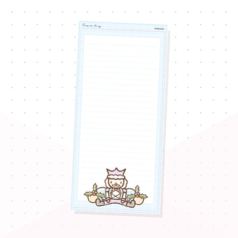 (PKNP020) Pastel Nutcracker Blue - Lined - Hobonichi Weeks Note Page - Planner Sticker
