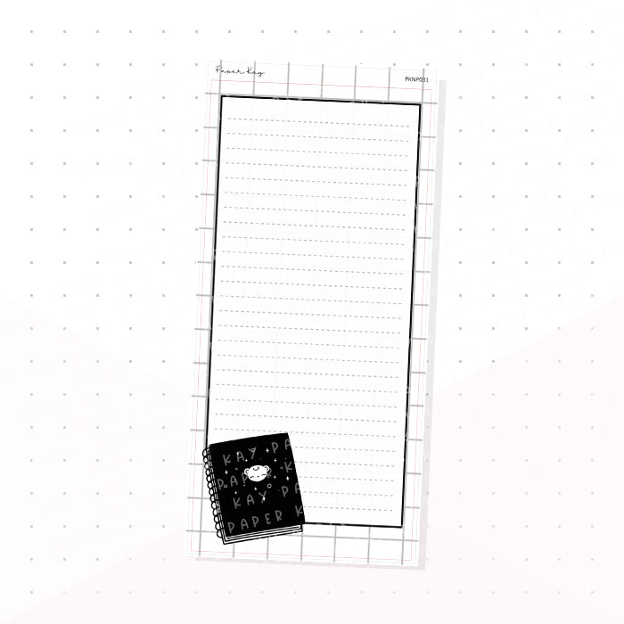 (PKNP031) Journal - Keep Life Simple - Lined - Hobonichi Weeks Note Page - Planner Sticker