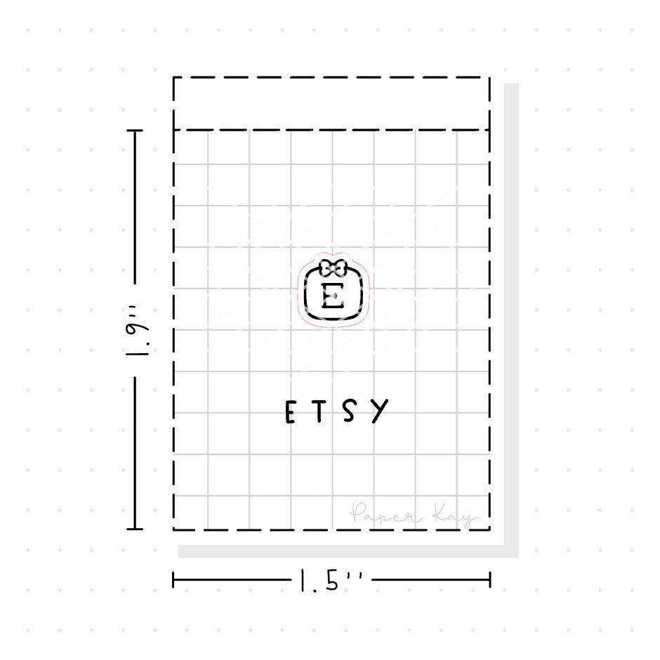 (PM026) Etsy / Shopping - Tiny Minimal Icon Stickers