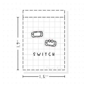 (PM033) Switch / Game Console - Tiny Minimal Icon Stickers