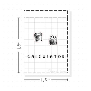 (PM034) Calculator - Tiny Minimal Icon Stickers