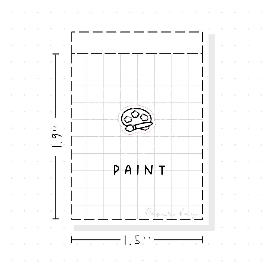(PM040) Painting / Art - Tiny Minimal Icon Stickers