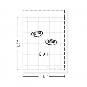 (PM045) Cutter / Silhouette - Tiny Minimal Icon Stickers