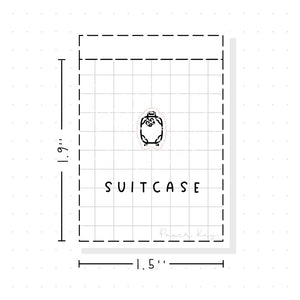 (PM049) Suitcase / Packing - Tiny Minimal Icon Stickers