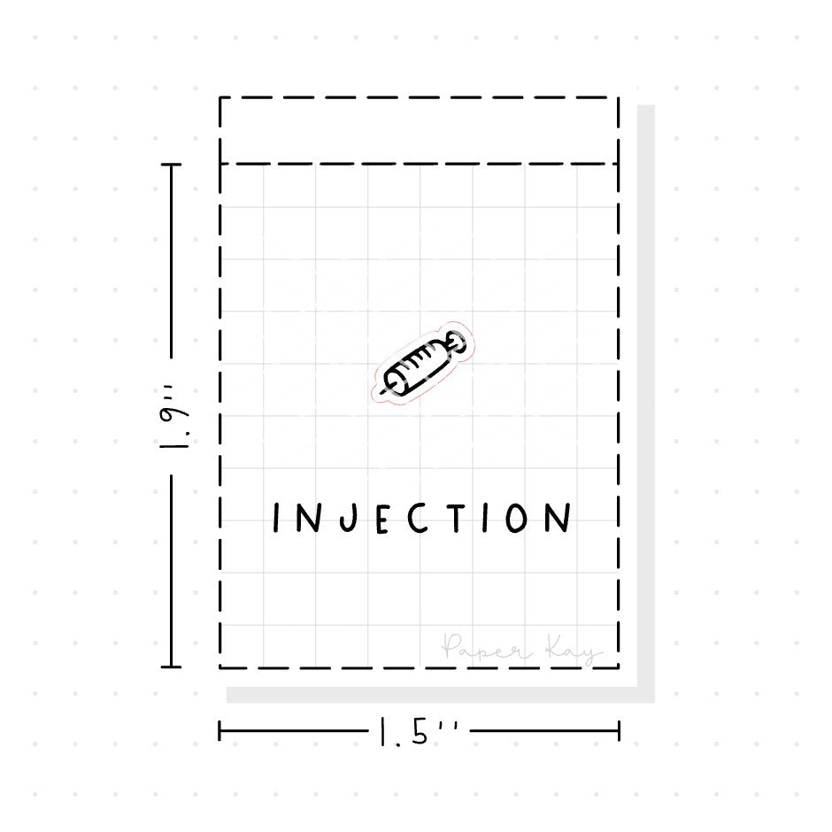 (PM066) Injection - Tiny Minimal Icon Stickers