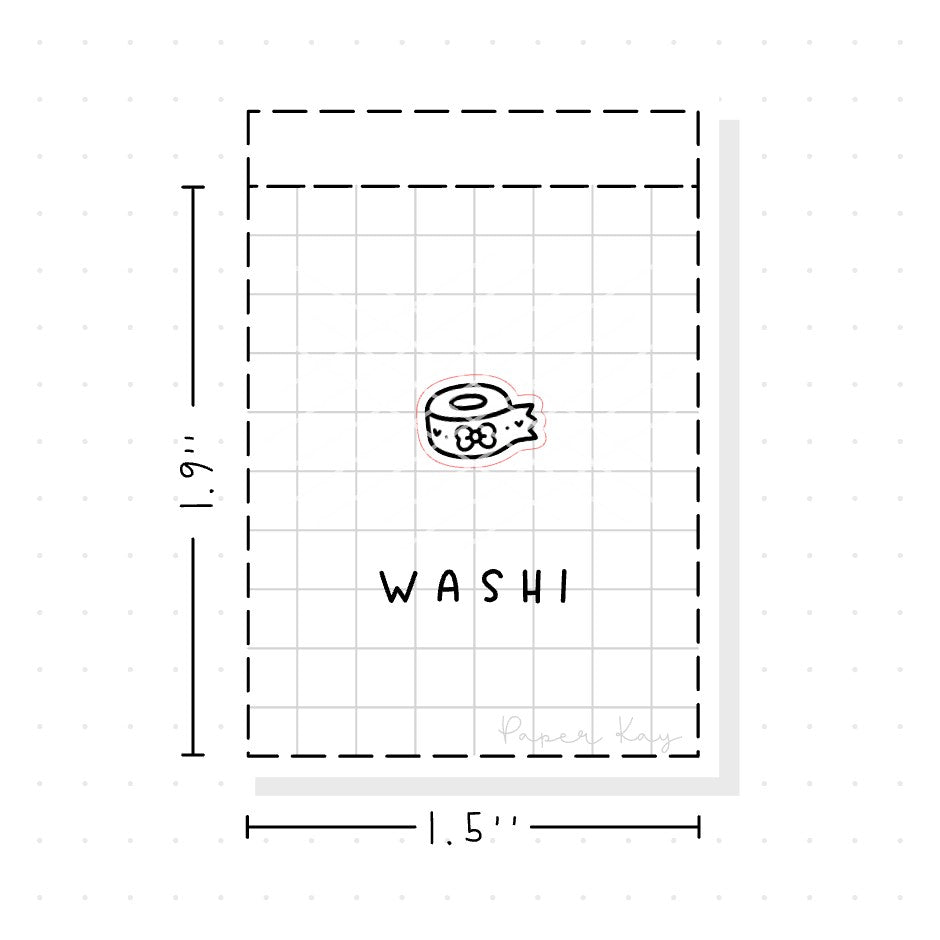 (PM070) Washi - Tiny Minimal Icon Stickers