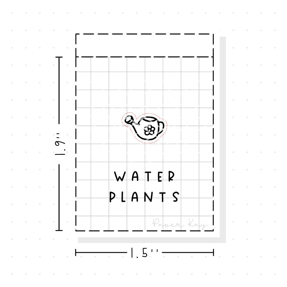 (PM071) Watering Can - Tiny Minimal Icon Stickers