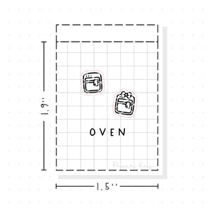 (PM081) Oven - Tiny Minimal Icon Stickers
