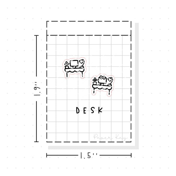 (PM084) Desk - Tiny Minimal Icon Stickers