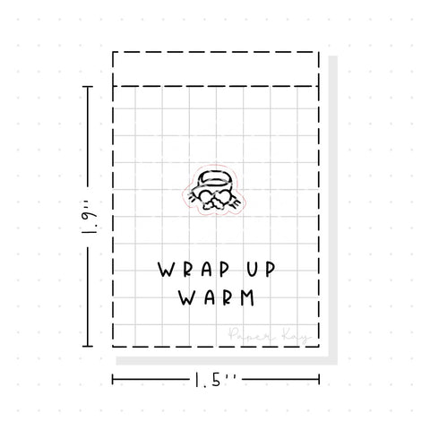 (PM094) Scarf and Gloves - Tiny Minimal Icon Stickers