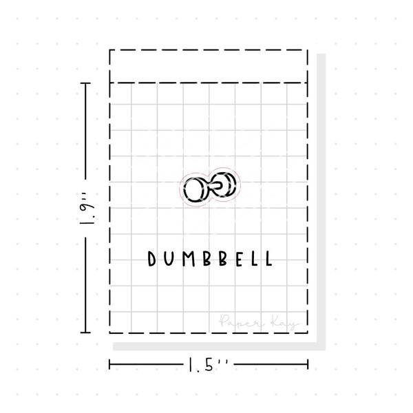 (PM098) Dumbbell - Tiny Minimal Icon Stickers