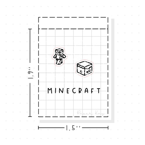 (PM101) Minecraft - Tiny Minimal Icon Stickers