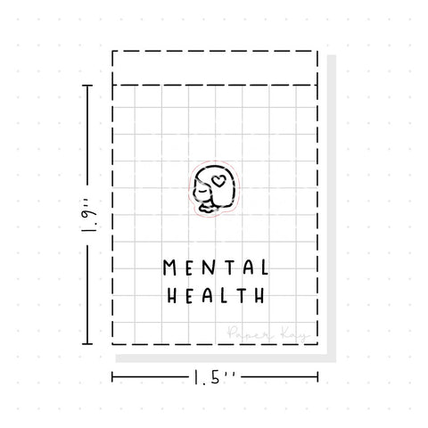(PM103) Mental Health - Tiny Minimal Icon Stickers