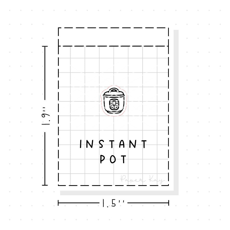 (PM125) Instant Pot - Tiny Minimal Icon Stickers