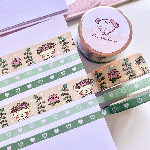 Botanical Dot The Bear Washi Tape (Set of 3)