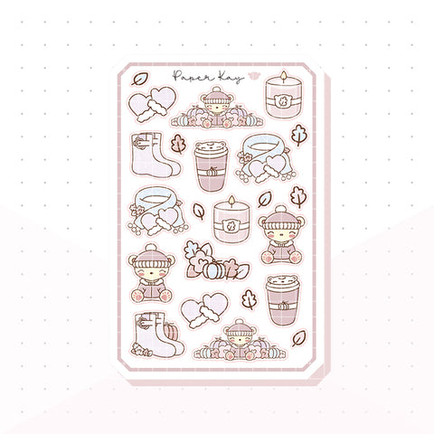 Pastel Fall Bujo Deco Planner Stickers
