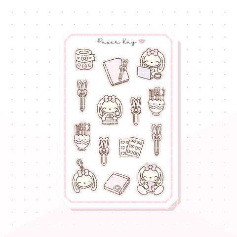 Planner Bunny Bujo Deco Planner Stickers
