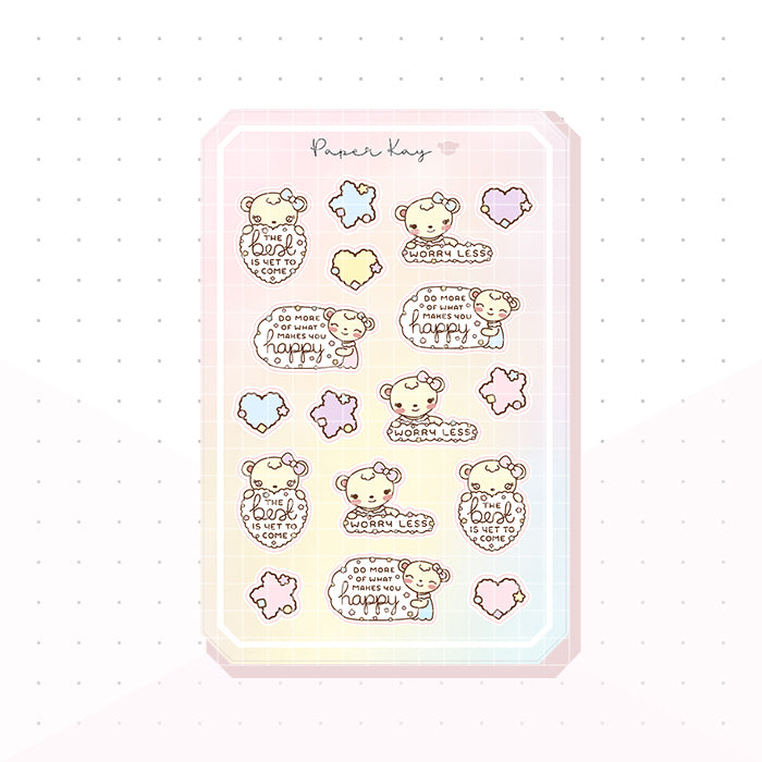 Positive Thoughts Bujo Deco Planner Stickers