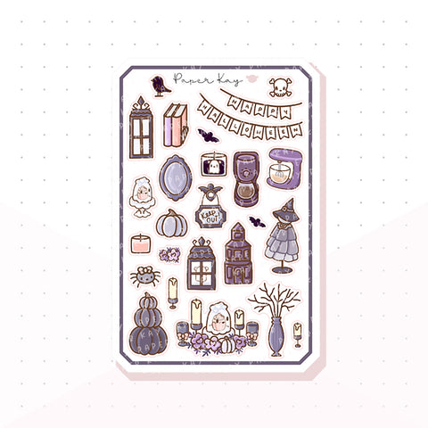 Spooky House Bujo Deco Planner Stickers