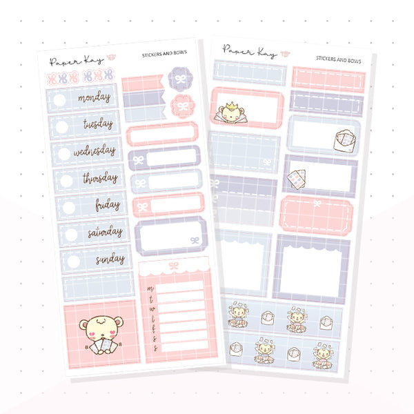 Stickers and Bows PP Weeks Kit - Planner Stickers