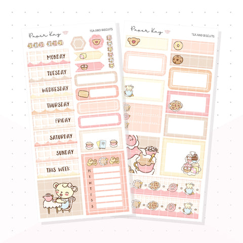 Tea and Biscuits PP Weeks Kit - Planner Stickers