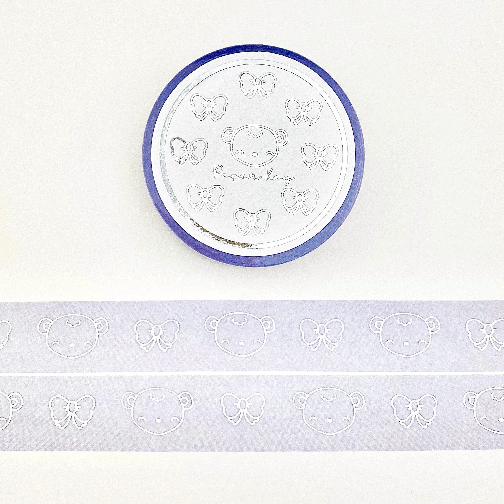 Silver Foiled, Dot the Bear and Bows Washi Tape