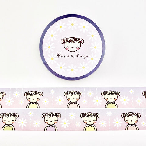 Dot the Bear and Daisies Washi Tape