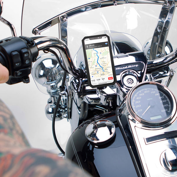 Polished Aluminum Motorcycle Handlebar Mount Kit