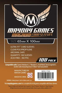 "Magnum Ultra-Fit ""7 Wonders"" Card Sleeves (65x100mm) - 100 Pack, Standard Thickness"