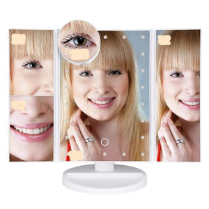 LED Makeup Mirror With Multiple Zoom Mirror