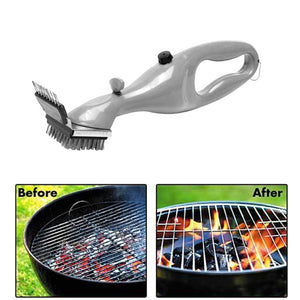 BBQ Grill Steam Cleaning Brush with Stainless Steel Bristles