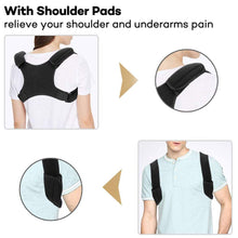 Load image into Gallery viewer, Adjustable Back and Shoulder Posture Corrector Brace