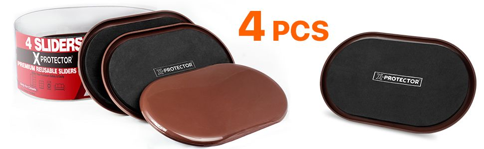 furniture sliders for the carpet by x-protector 4 pcs
