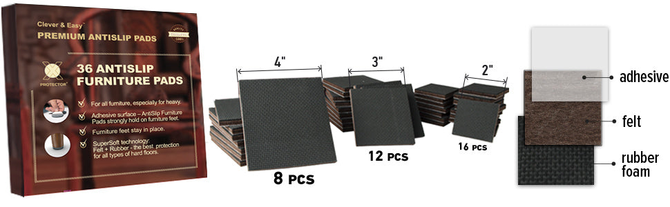 nonslip  furniture pads x-protector