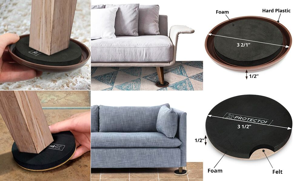 furniture leg carpet sliders x-protector