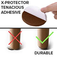 durable chair leg floor protectors