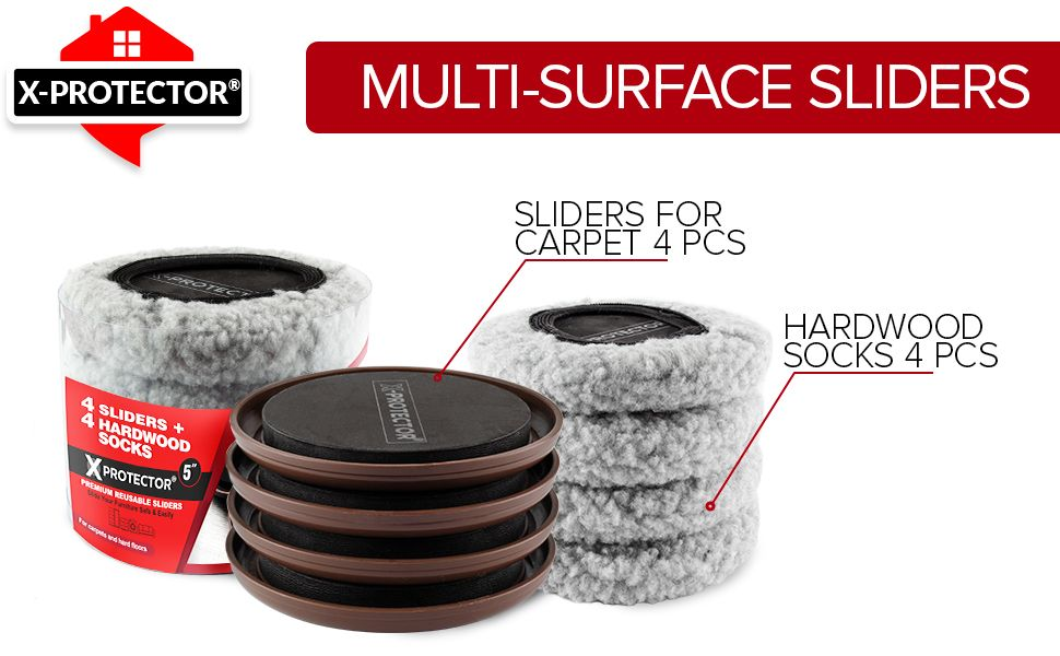 4 multi-surface sliders